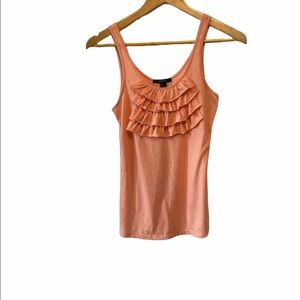 FOREVER 21 Coral Ruffle Light Fitted Tank Top S